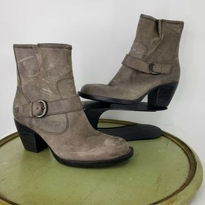 Børn Shoes - Born Palmer Oiled Leather Heeled Zip Boots